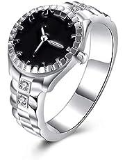 guantongda Kosteneffectieve 2019 Prachtige zilveren sieraden vergulde kubieke Zirkonia Horloge Ring Party Bruiloft Sieraden voor Vrouwen voor Camping, Picknick en andere Outdoor Activiteiten