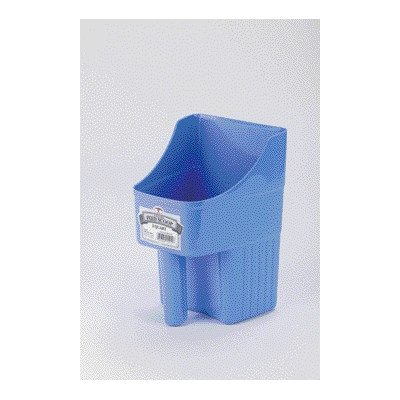 Enclosed Feed Scoop (Enclosed Pet Feed Scoop - 3 Quart [Set of 2] Color: Berry Blue)