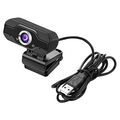 LIDIWEE HD 1080P Webcam Built-in Microphone Computer Laptop Camera for Video Call Black