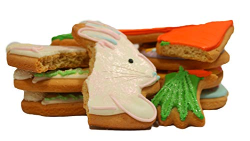 Easter Day Cookie Gift Basket 10 Pastel Decorated Cookies Bunny Eggs Carrots for Men Women Boys Girls Boyfriend Girlfriend Prime Delivery by Custom Cookies (Image #3)