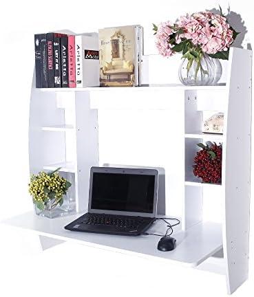 Floating Desk with Storage Shelves,Wall Desk Shelves Space Saver Multi-Functional Wall Mounted Laptop Desk Writing Desk Computer Desk Kids Study Table Home Office Table Desk Workstation,Trestle Desk