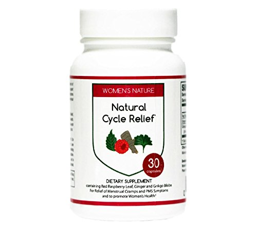 Natural Cycle Relief - Herbal Remedy to Relieve Menstrual Cramps, Bloating, Period Pain, PMS (Premenstrual Syndrome), and to Promote Womens Health - Natural Supplement (30 count)