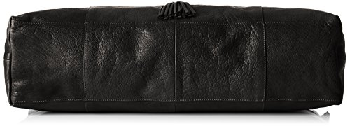 Sacs Pcdepti Portés Pieces Travel Femme Bag Leather Noir Noir Main OHxOqwIR7d