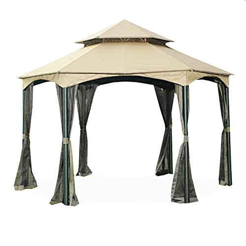 Garden Winds Replacement Canopy for The Southbay Hexagon Gazebo - 350 (Replacement Canopy Hexagon)