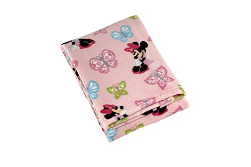 Disney Minnie Printed Coral Fleece Blanket, Butterfly Charm
