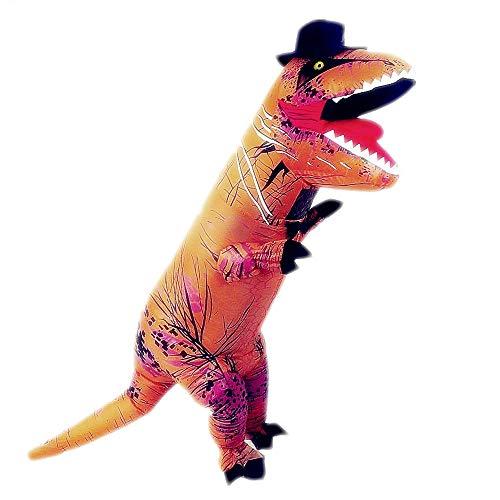 Cute Funny Inflatable Kids Dinosaur Costume Gentleman Style (Kids Brown-Genleman Dinosaur)