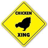 CHICKEN CROSSING Sign xing signs rancher farmer gift gag funny raising breeding