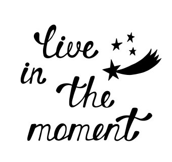 Image result for live in the moment clipart