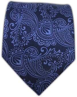 100% Woven Silk Navy Twill Paisley Tie