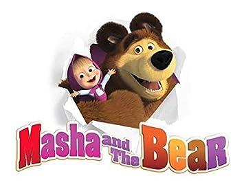 Amazon.com: CAKEUSA MASHA AND BEAR Birthday Cake Topper ...