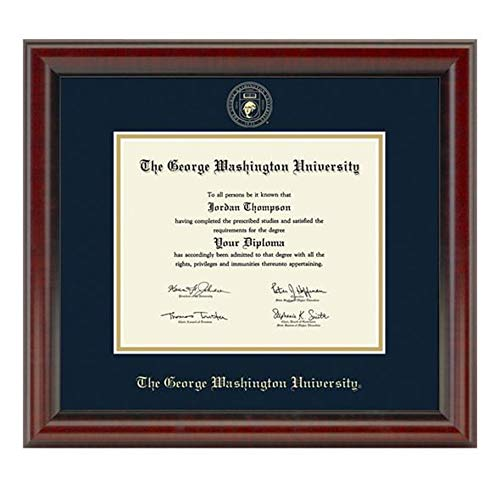 M. LA HART George Washington University Diploma Frame, The - University Diploma Washington Frame