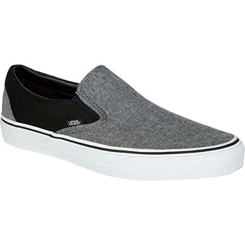 Vans Classic Slip-On Skate Shoe - Men's (C&C) Black/Pewter, Mens 9.0/Womens 10.5