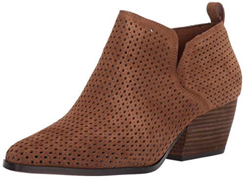 Franco Sarto Women's Dingo Ankle Boot, Brown Suede, 7.5 M US