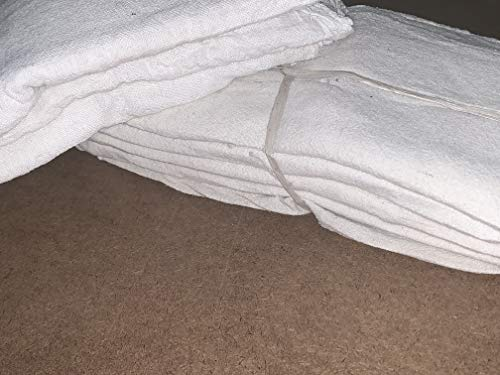 2500 New White Shop Towels Rags Brand Mechanics Industrial Grade 14X14 by ITC (Image #1)