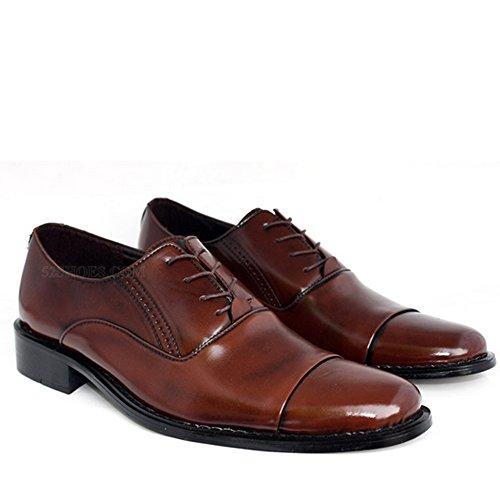 Nonbrand Herren cuban heel Lace Up Leder Synthetisch Schuhe Business Halbschuhe Größe 5