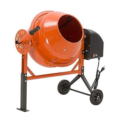 SUNCOO 1/2 HP 2.5 Cu Ft Electric Concrete Cement Mixer Mortar Mixing Stucco Seeds Portable Barrow Machine