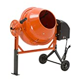 SUNCOO 1/2 HP 2.5 Cu Ft Electric Concrete Cement Mixer Mortar Mixing Stucco Seeds Portable Barrow Machine