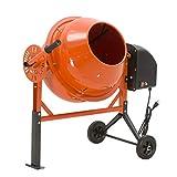 SUNCOO Electric Concrete Cement Mixer Mortar Mixing Stucco Seeds Portable Barrow Machine 2.5 Cu Ft 1/2 HP