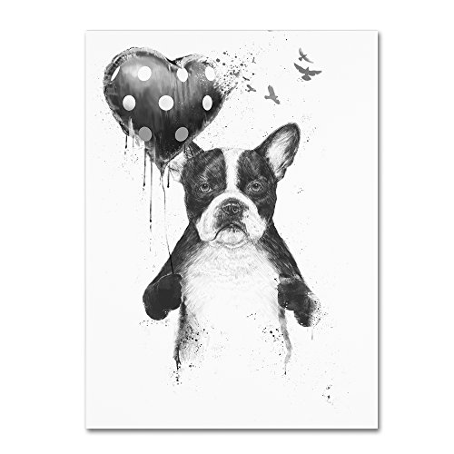 My Heart Goes Boom by Balazs Solti, 24x32-Inch Canvas Wall Art from Trademark Fine Art
