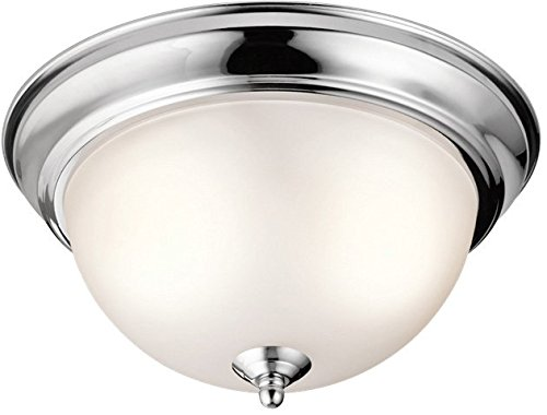 Kichler 8111CH Flush Mount Round Glass Ceiling Lighting, Chr