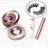 Benols Beauty Magnetic Eyeliner with 3D Magnetic Eyelashes & Tweezers, Black Waterproof Magnetic Liquid Eyeliner for Use with Magnetic False Lashes