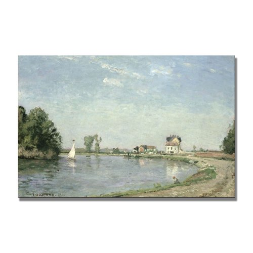 - At The River's Edge 1871 Artwork by Camille Pissaro, 30 by 47-Inch Canvas Wall Art