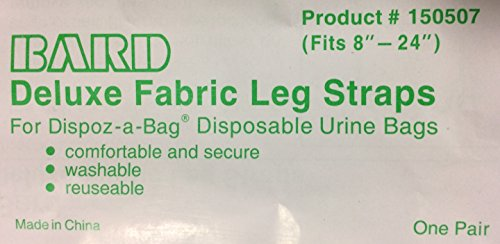 1 Pair of Bard Deluxe Fabric Leg Straps 150507 for Urine Leg Bag Catheter LegBag Deluxe Control Package
