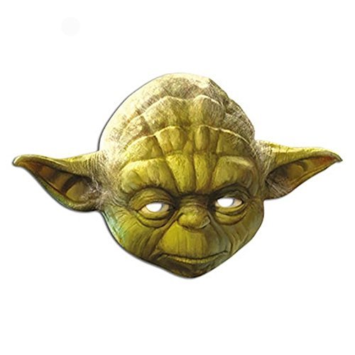 [Yoda Official Card Star Wars Mask] (Yoda Costumes For Adults)