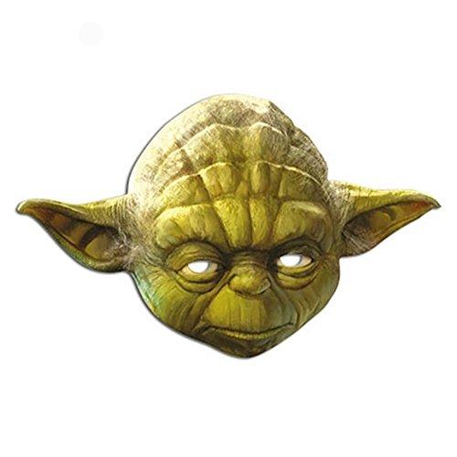 Yoda Official Card Star Wars Mask (Yoda Costume Adults)