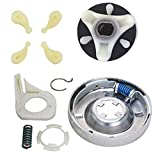 Siwdoy 285785 Washer Clutch Kit, 285753A Motor Coupling Kit and 4 pcs 80040 Washer Agitator Dog Compatible with Whirlpool & Kenmore Washer 285331, 3351342, 3946794, 3951311, AP3094537