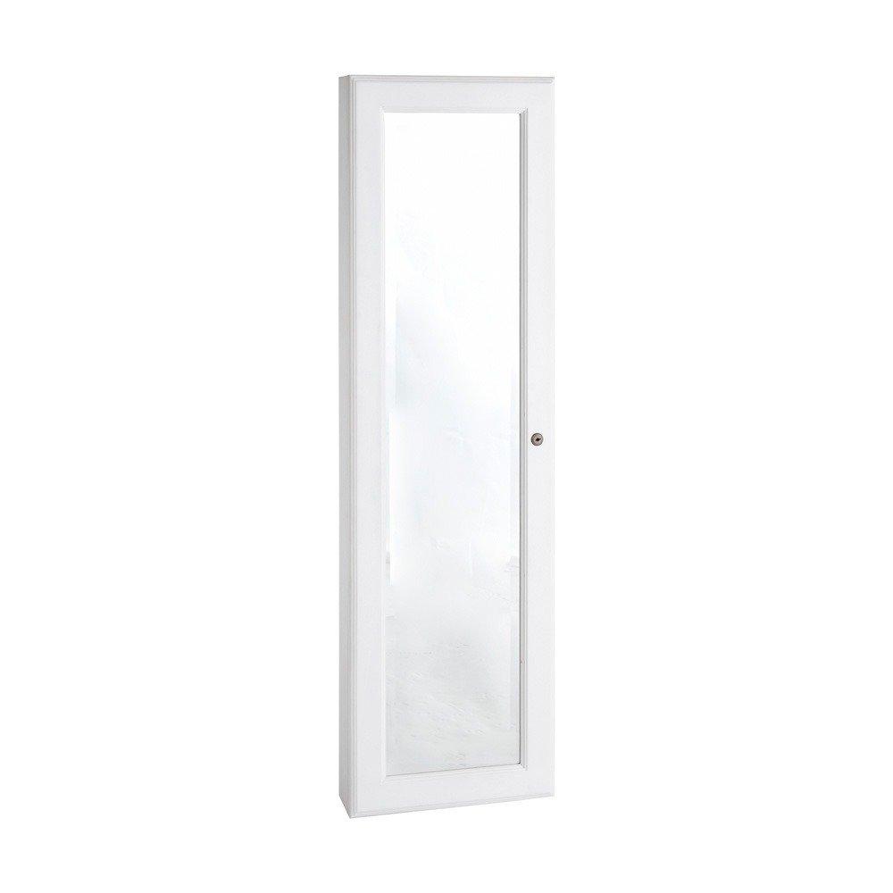 Harper Blvd Wall-mount White Jewelry Mirror