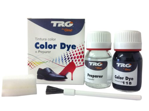 TRG the One Self Shine Leather Dye Kit #118 Black - BEST SELLER SALE! (Satin Shoe Trg Dye)