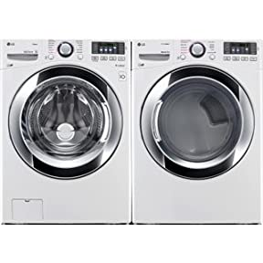Ultra-Capacity Laundry System with GAS Steam Dryer In Pure White Color(WM3370HWA+DLGX3371W)