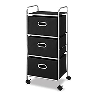 Whitmor 3 Drawer Rolling Cart – Home and Office Storage Organizer