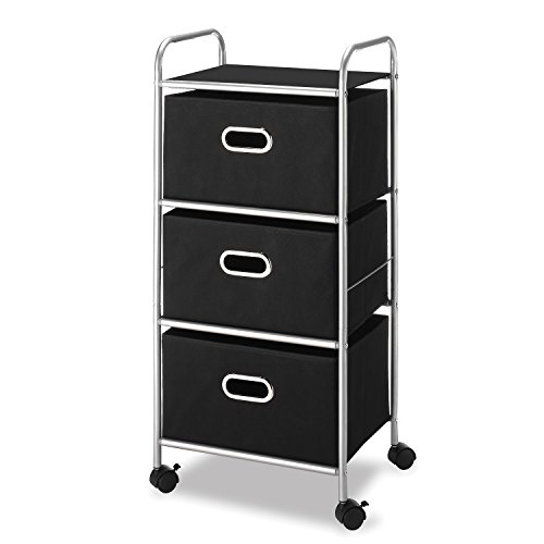 Whitmor 3 Drawer Rolling Cart - Home and Office Storage Organizer by Whitmor