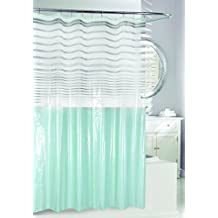 Moda at Home Totally Modern PEVA Shower Curtain, Aqua
