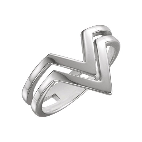 rings, 14K White Double Row