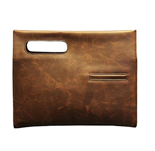 Individual Messenger Hombres Clutch Shingle para Simple Hombro Bolsa Bolso Marrón Shouder Bolsa Bolsa Negro ZHRUI FqfUzz