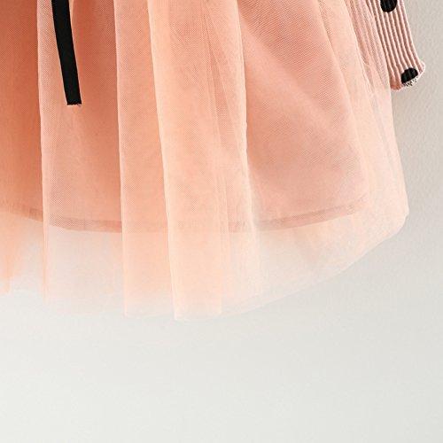 4a87cbfcc1ff9 ZooArts ベビー服 子供服 ワンピース 女の子 プリンセスドレス 可愛い 水玉柄 長袖 春秋 ミニスカート チュール