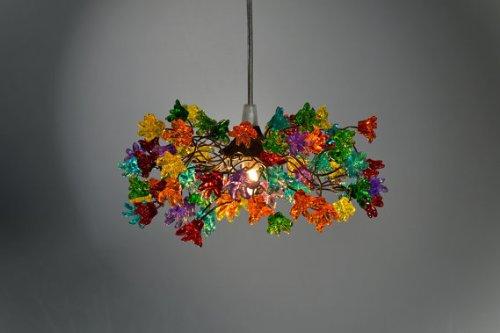 Ceiling Lighting - Multi Colored Flowers Lamp Shade. Pendant lights ...