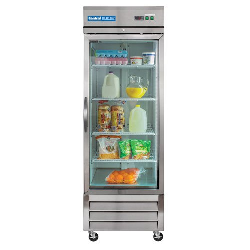 Central Exclusive Glass Door Reach-In Refrigerator, One Door