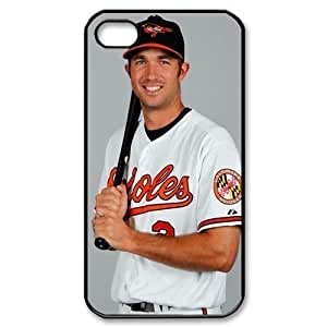 MLB iPhone 4,4S White Baltimore Orioles cell phone cases&Gift Holiday&Christmas Gifts NADL7B8824710 by heywan