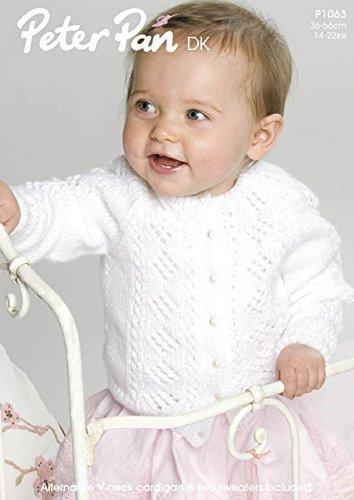 Peter Pan Baby Cardigan Knitting Pattern 1063 Dk Amazon