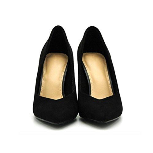 Ensemble simples Shallow XIE hauts talon femmes femmes Fine black pieds féminins Chaussures Pointu pour Chaussures bouche talons Confortable Chaussures de qPaxqBwS
