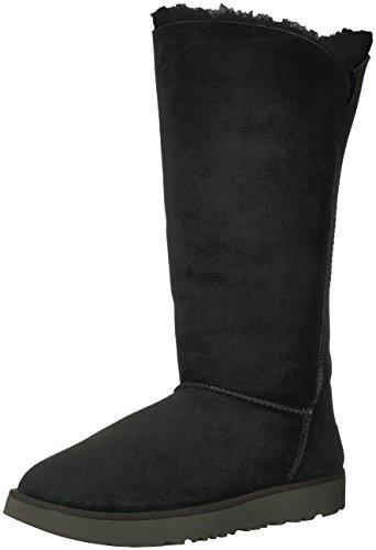UGG Women's Classic Cuff Tall Winter Boot,Black,7 M US