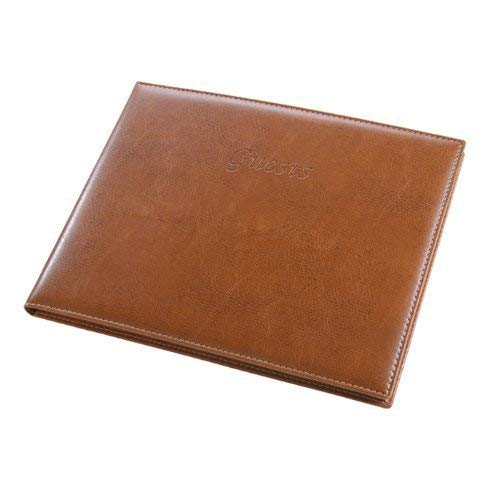 - Padded Italian Leather Guest Book with