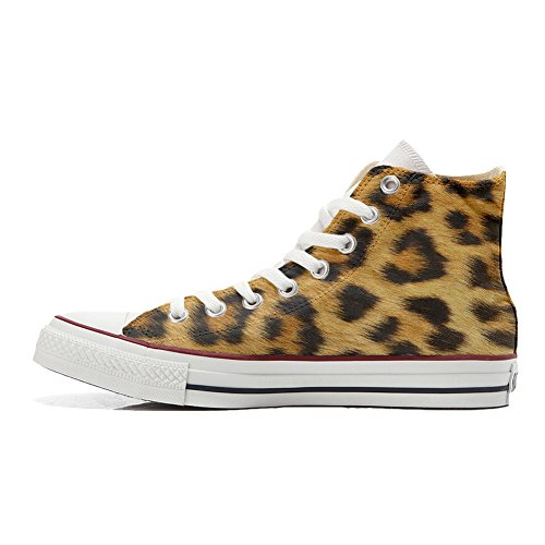 chaussures coutume Customized artisanal Converse Shoes leopard Adulte Your Make produit canPgvWc