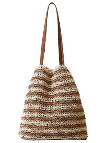 Drawstring Sweet Shoulder Knitted Lightweight Hook 021 Boho Beige Bag Women's Straw Flower Backpack Style Sulida FBA np1awXqx4a