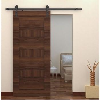 interior sliding barn door kit hardware set black steel kitchen cabinets kitchener waterloo