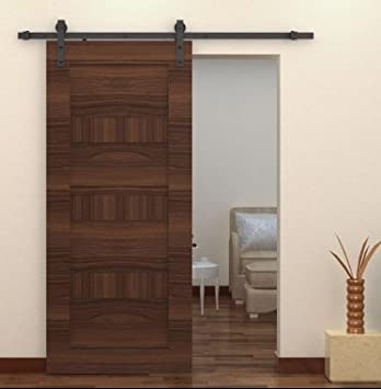Interior Sliding Barn Door Hardware Ebay Exterior Uk Kit Set Black Steel  Bypass